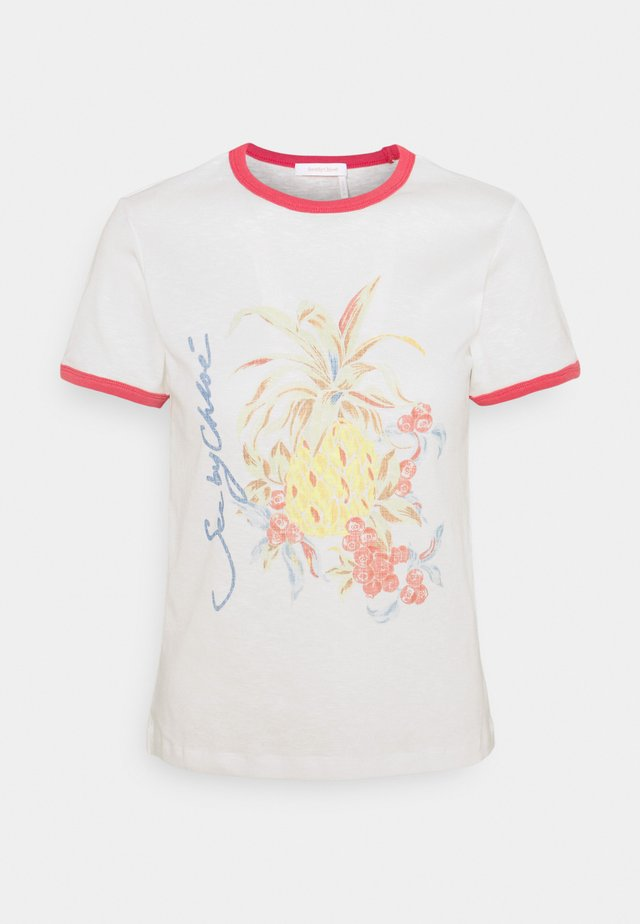 T-shirt print - crystal white