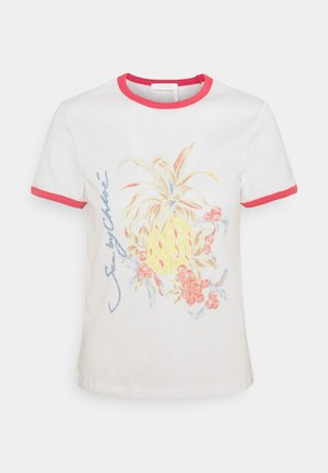 Print T-shirt - crystal white