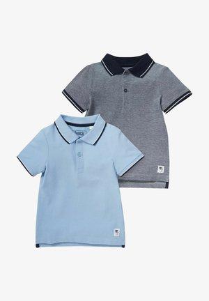 2 PACK - Polo shirt - light blue/grey