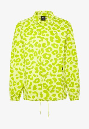 LEOPARD COACH JACKET - Lett jakke - hot lime