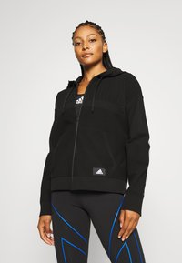 adidas Performance - HOODIE - Sweatjacke - black - 0