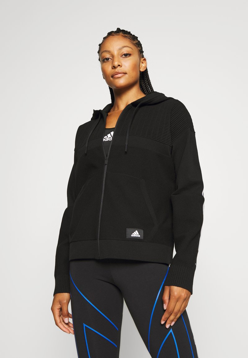 adidas Performance - HOODIE - Sweatjacke - black