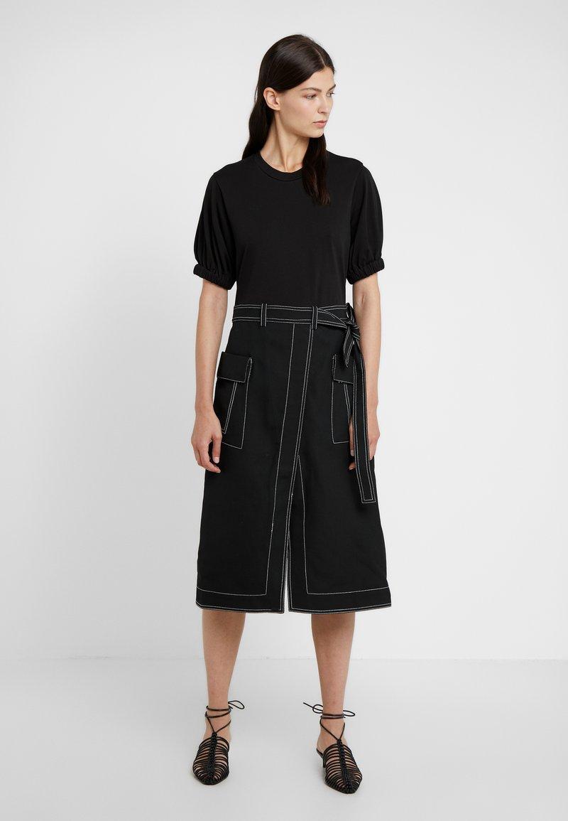 3.1 Phillip Lim - TOPSTITCH - Day dress - black
