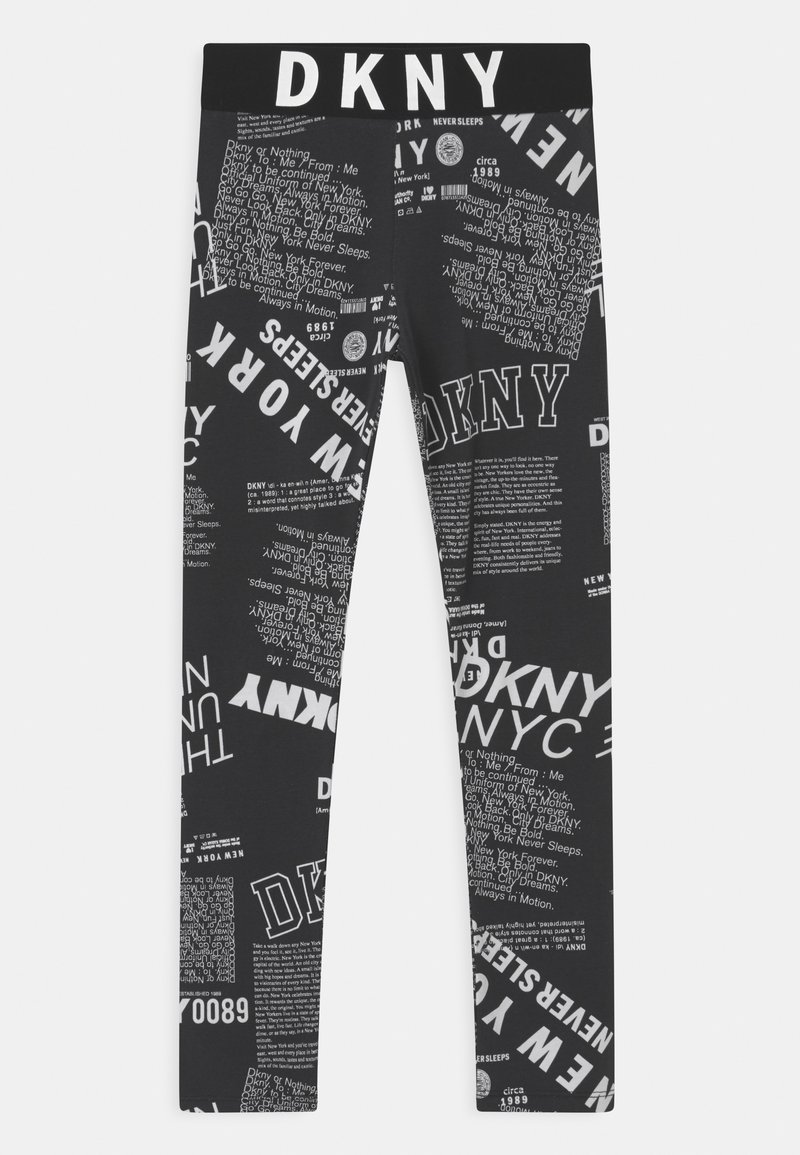 DKNY - Leggings - Trousers - black/white
