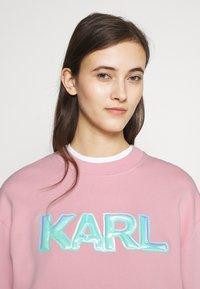 KARL LAGERFELD - BALLOON LOGO  - Sweatshirt - pink - 3