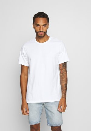 AUTHENTIC CREWNECK TEE - T-paita - white