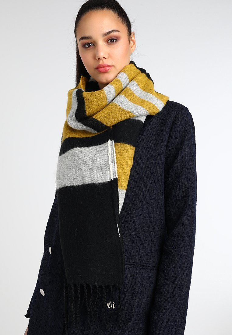 KIOMI - Scarf - white/black/yellow