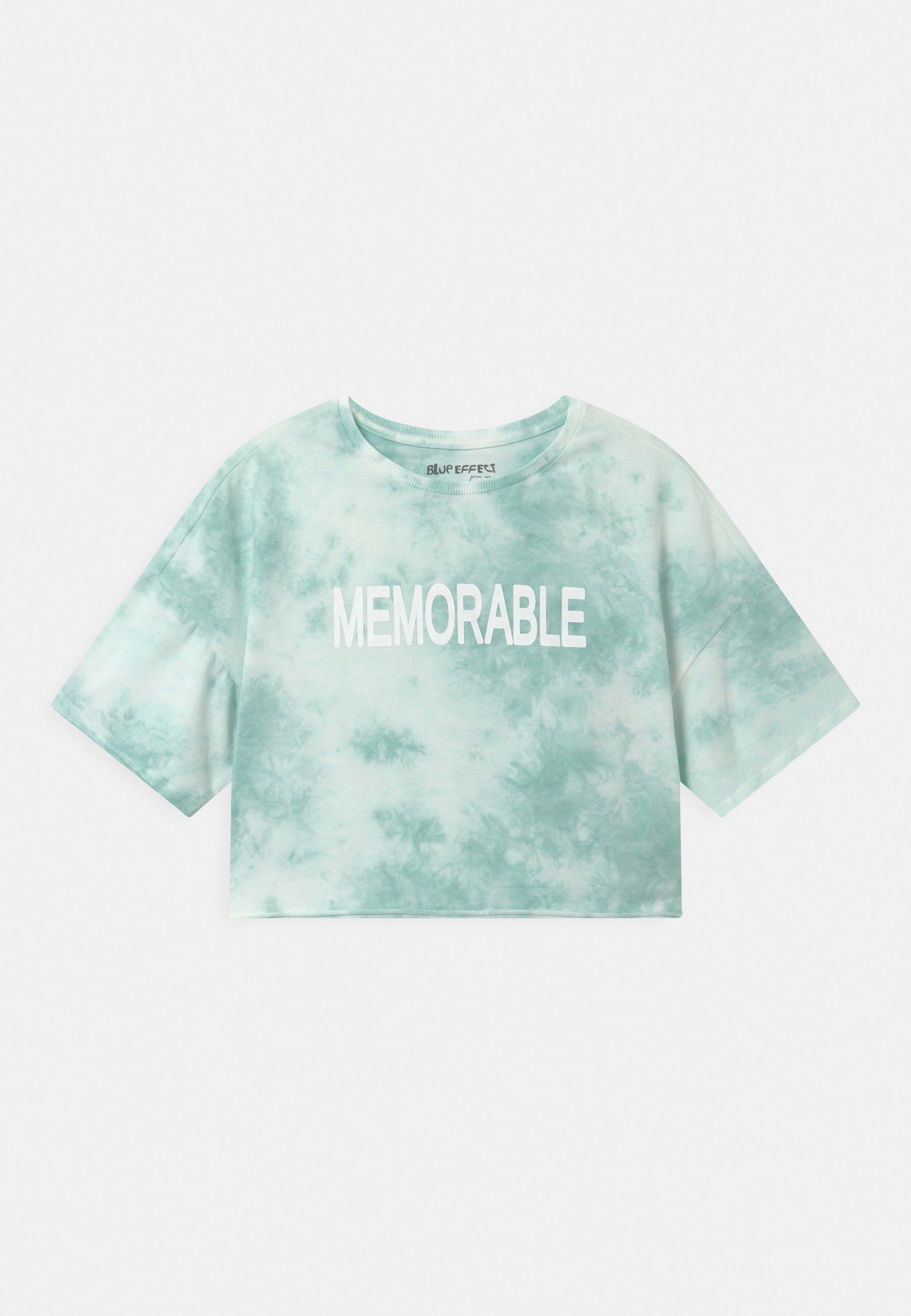Kids GIRLS MEMORABLE BOXY  - Print T-shirt - karibikgrün