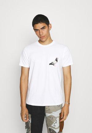 POCKET TEE UNISEX - T-shirt print - white