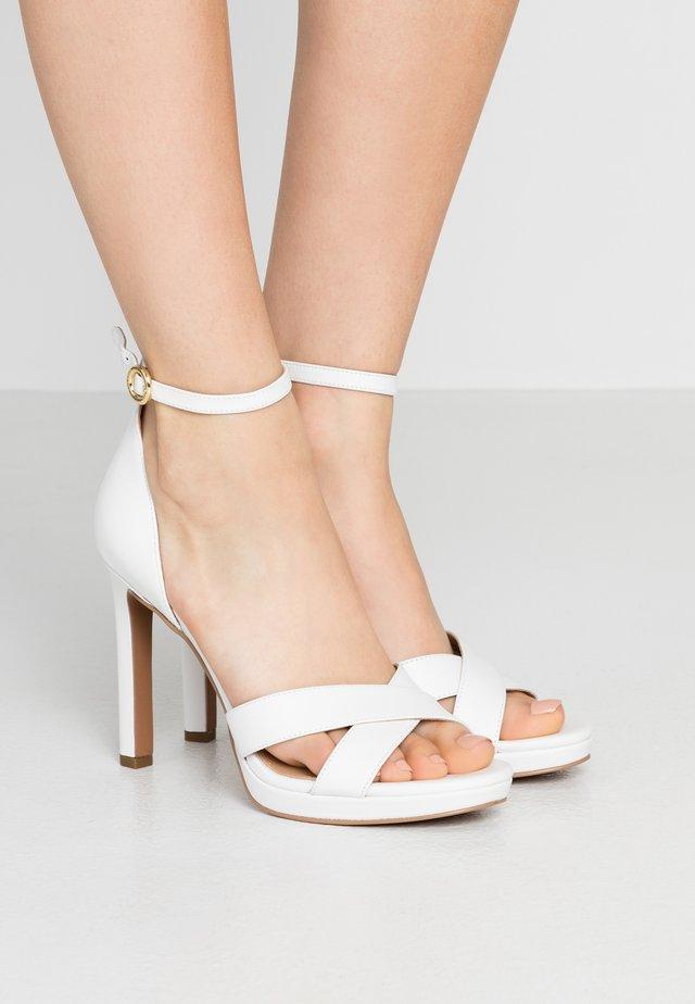 ALEXIA  - Sandaler med høye hæler - optic white
