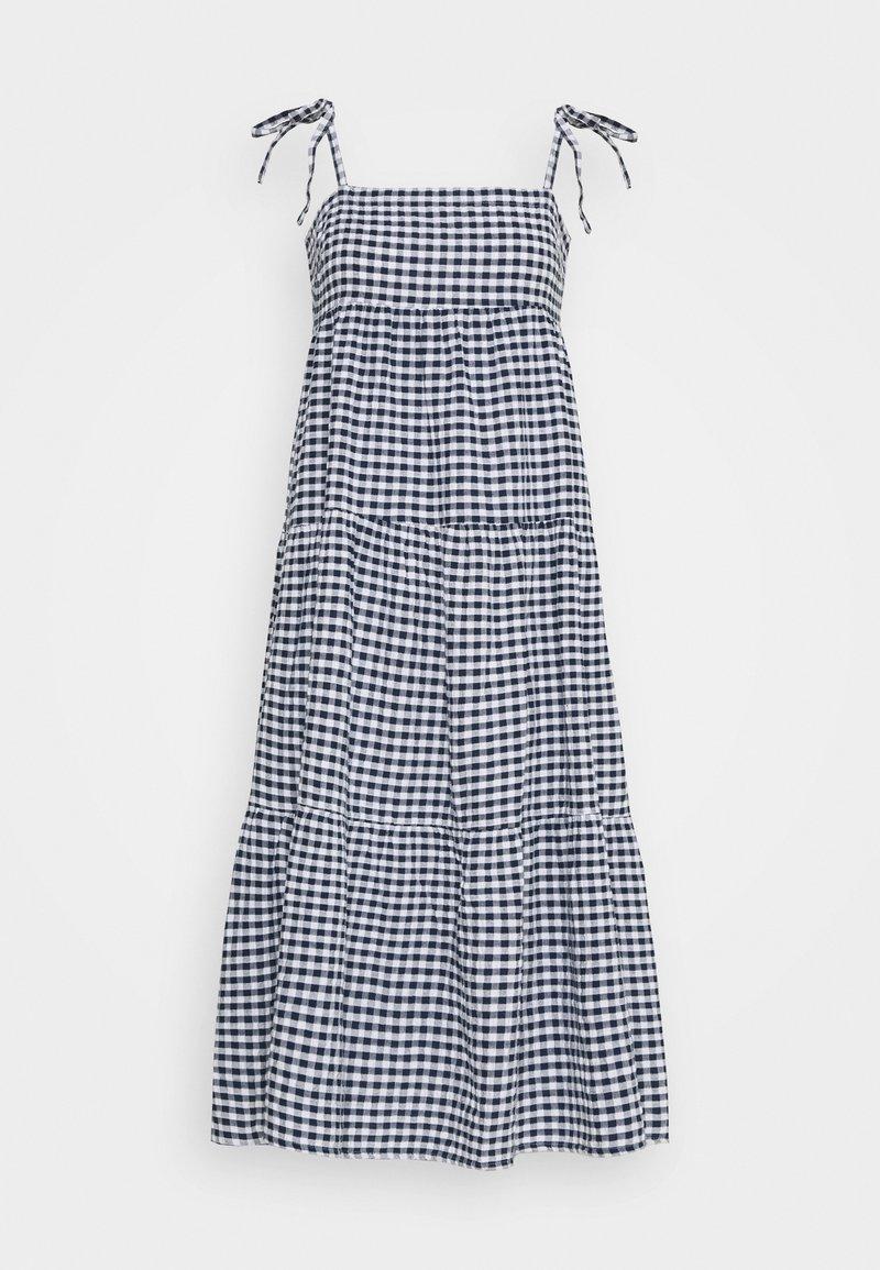 Seafolly - ELDORADOALLY GINGHAM TIERED DRESS - Complementos de playa - blue