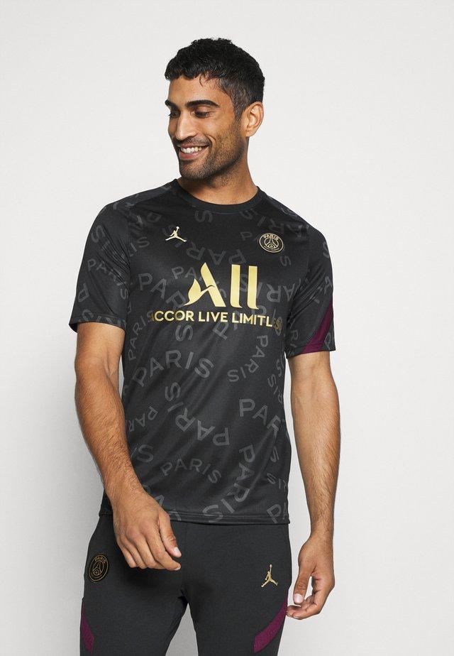 PARIS ST GERMAIN DRY  - T-shirt de sport - black/bordeaux/truly gold
