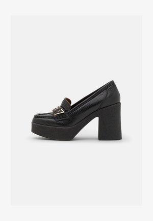 LOAFER - Platform heels - black dollaro