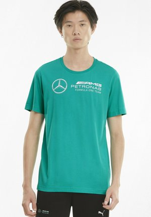 T-shirt con stampa - spectra green