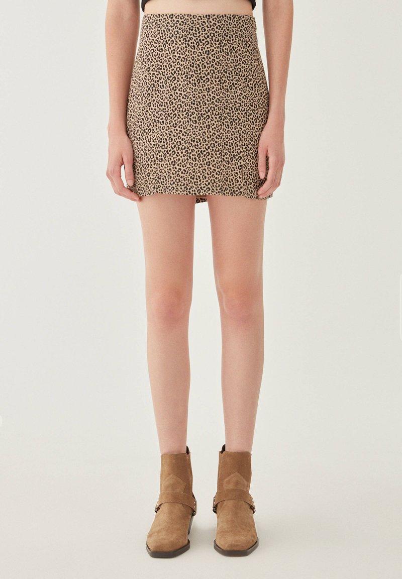 PULL&BEAR - Mini skirt - brown