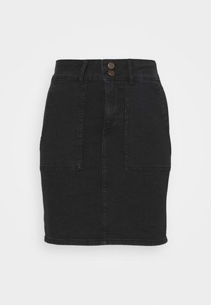 PCAVIA SKIRT BOX CAMP - Pencil skirt - black
