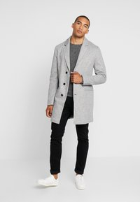 Pier One - Classic coat - mottled grey - 1