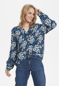 Kaffe - Button-down blouse - dark blue - 0