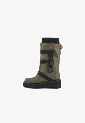 Cowboy/Biker boots - khaki
