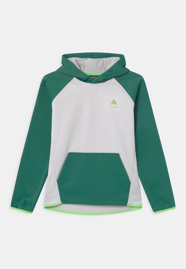 CROWN WEATHERPROOF UNISEX - Sweat à capuche - antique green/lunar gray