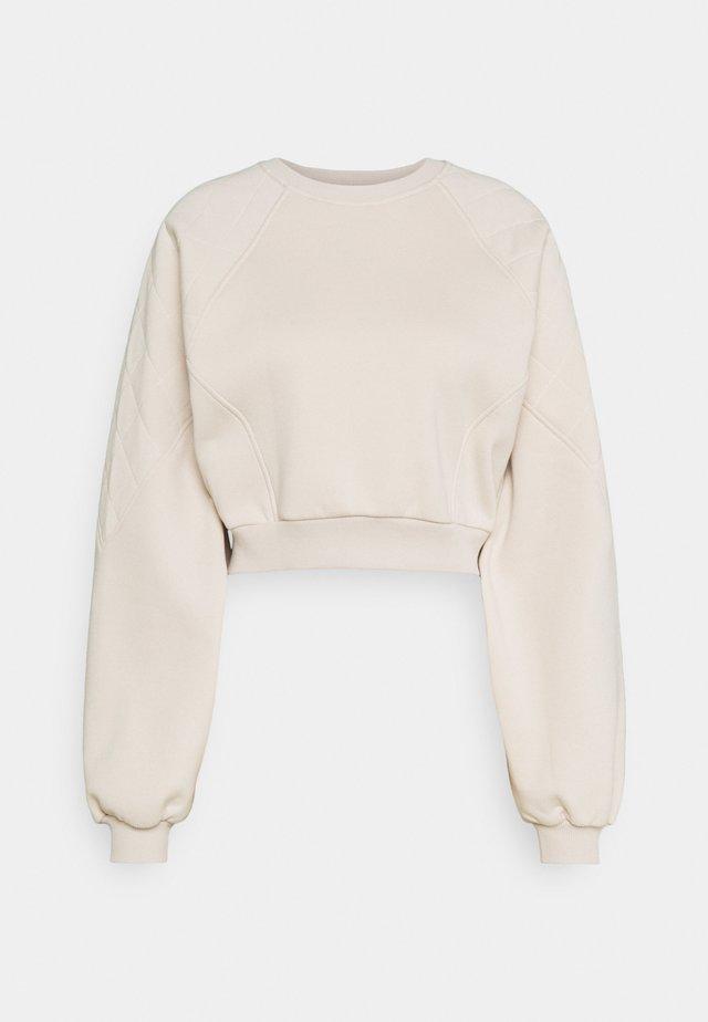 QUILTED DETAIL - Bluza z kapturem - beige