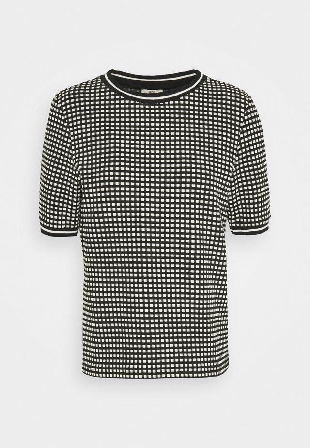 POPCORN TEE - Print T-shirt - black