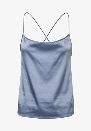 CROSS BACK STRAIGHT NECKLINE SINGLET - Top - light blue