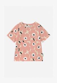 Marimekko - SOIDA MINI UNIKOT - Print T-shirt - beige/rose/black - 0
