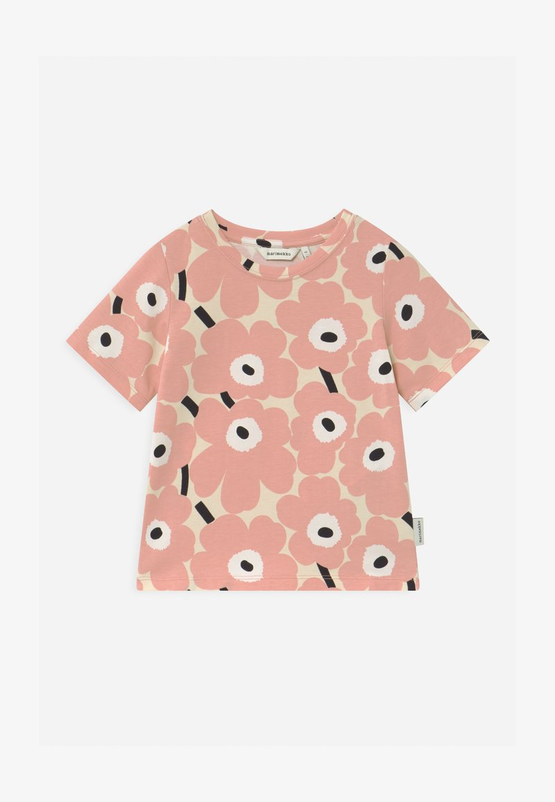 Marimekko - SOIDA MINI UNIKOT - Print T-shirt - beige/rose/black