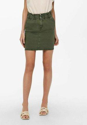 Denim skirt - ivy green