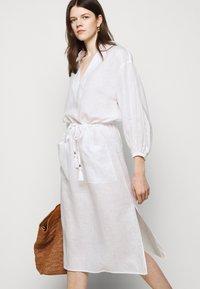 Tory Burch - MIDI TUNIC DRESS - Day dress - white - 4
