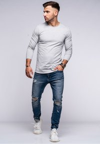 Jack & Jones - INFINITY  - Long sleeved top - light grey melange - 1