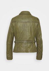 Oakwood - IOTA - Leather jacket - khaki - 6