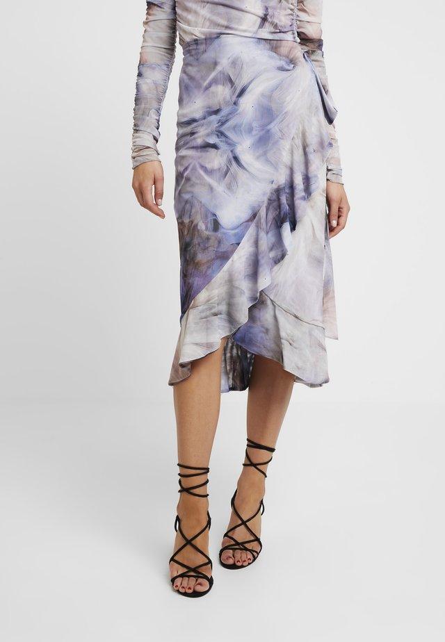 MELLIA SKIRT - Wrap skirt - oyster