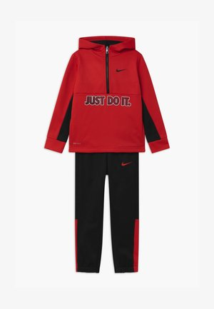 THERMA HALF ZIP SET - Dres - black/university red
