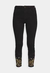 Desigual - Jeansy Skinny Fit - black - 4