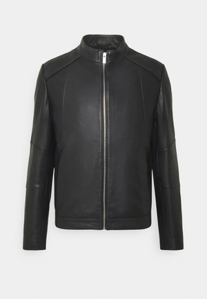 LONAS - Leather jacket - black