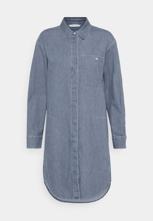 DRESS CUFFED SLEEVES - Shirt dress - blue denim