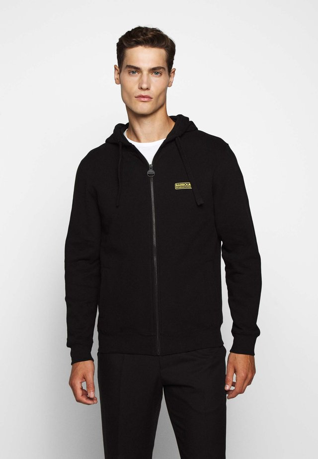 ESSENTIAL HOODY - Mikina na zip - black