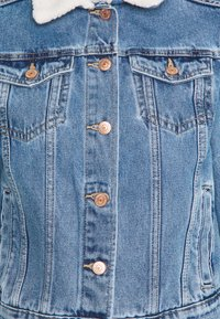 New Look - BORG JACKET MELISSA - Denim jacket - mid blue - 2