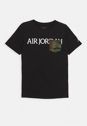 JUMPMAN CLASSICS CAMO POCKET - T-shirt z nadrukiem - black