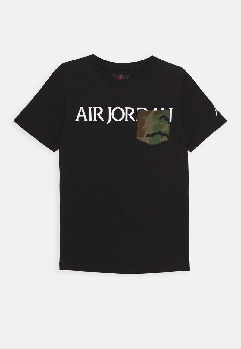 Jordan - JUMPMAN CLASSICS CAMO POCKET - Print T-shirt - black