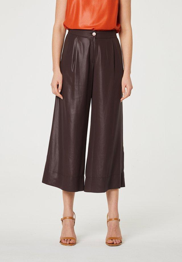 Pantalon classique - marrón oscuro