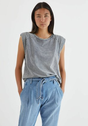 Print T-shirt - gris clair china