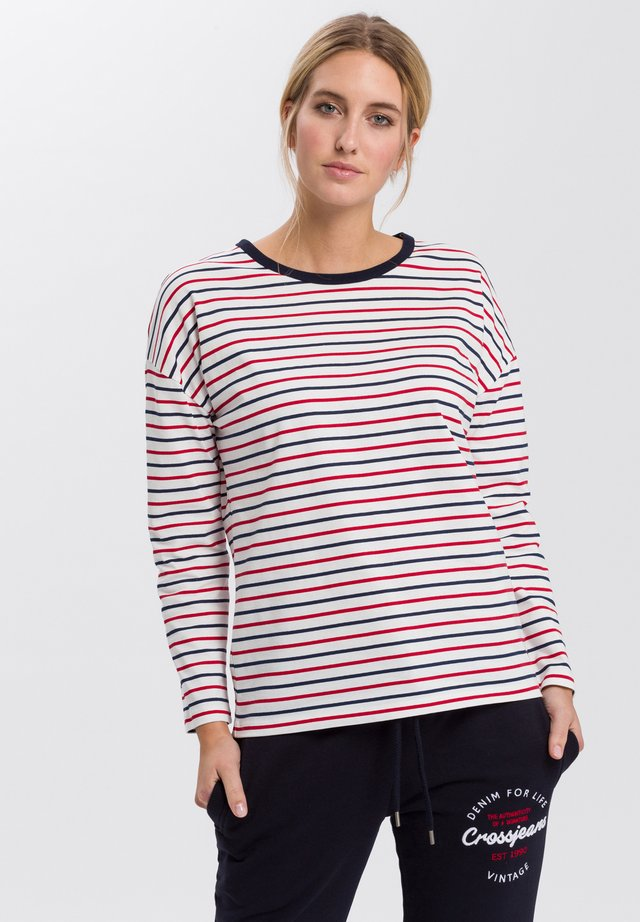 Long sleeved top - navy-red