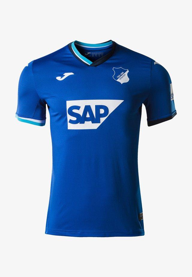 Print T-shirt - blauweiss