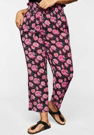 PAPER - Pantalon classique - dunkelpink bedruckt