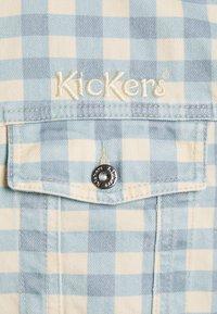 Kickers Classics - GINGHAM JACKET - Denim jacket - cream/blue - 2