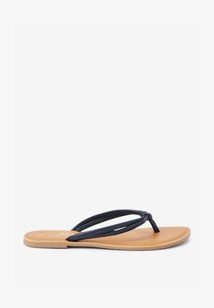 TIE KNOT  - T-bar sandals - dark blue