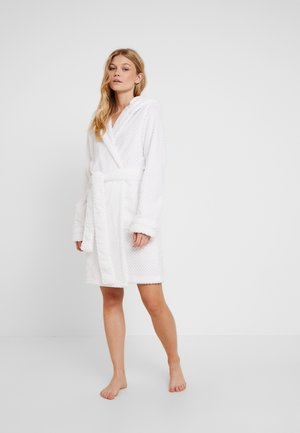 HOODED LUXE PLUSH GOWN - Badekåpe - white